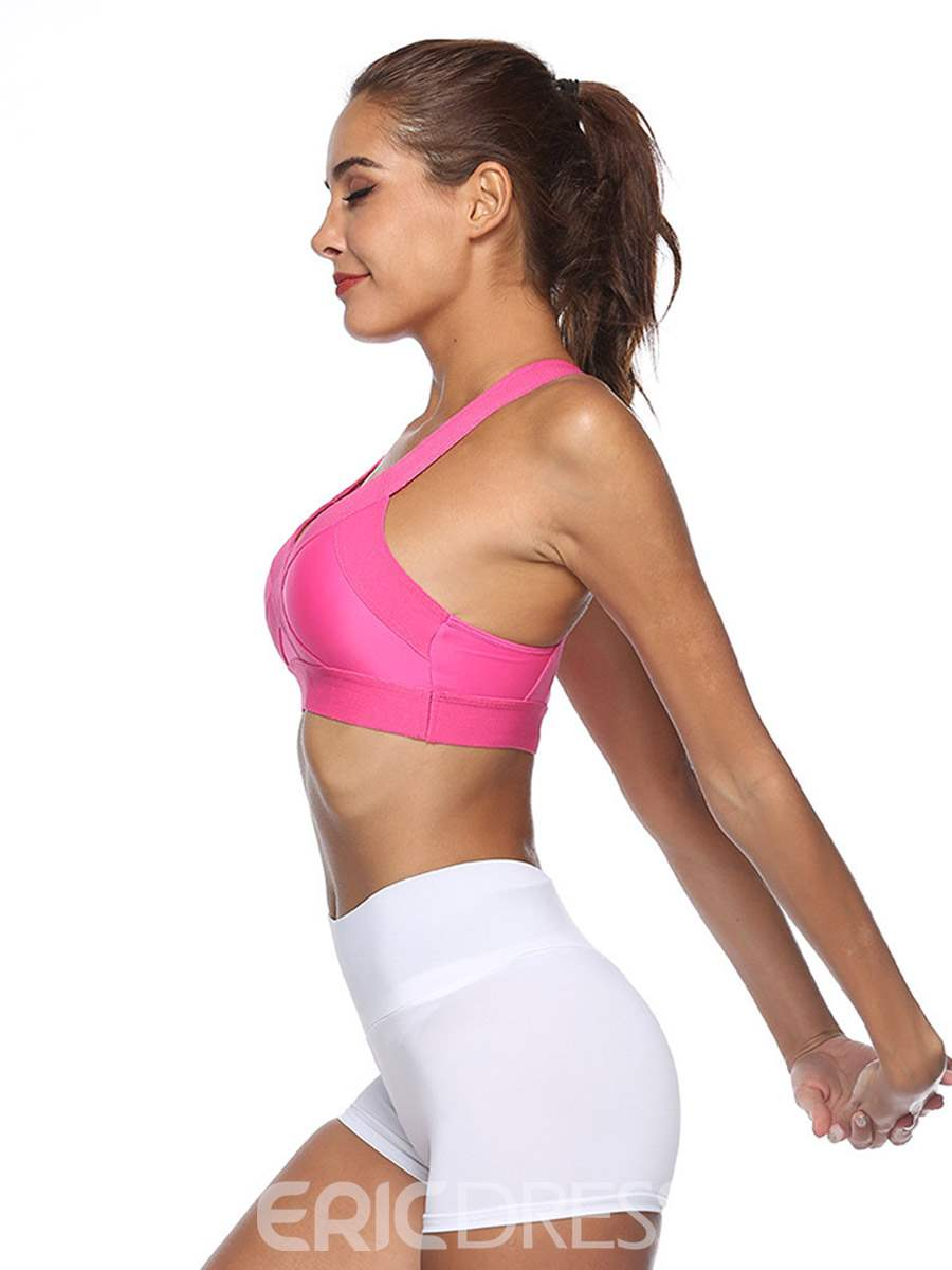 Ericdress Plain Non-Adjusted Straps Quick-Dry Thin Sports Bras