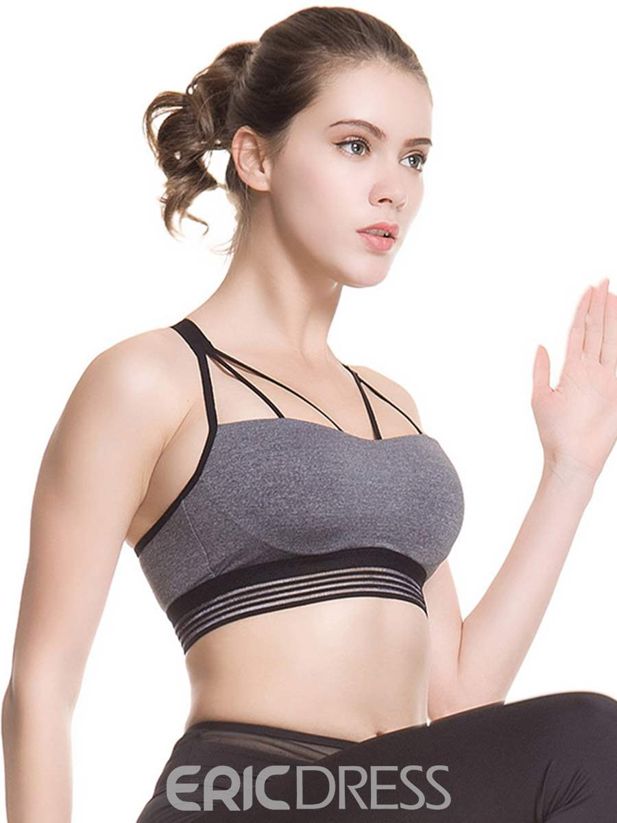 Ericdress Back Closure Breathable Free Wire Sports Bras