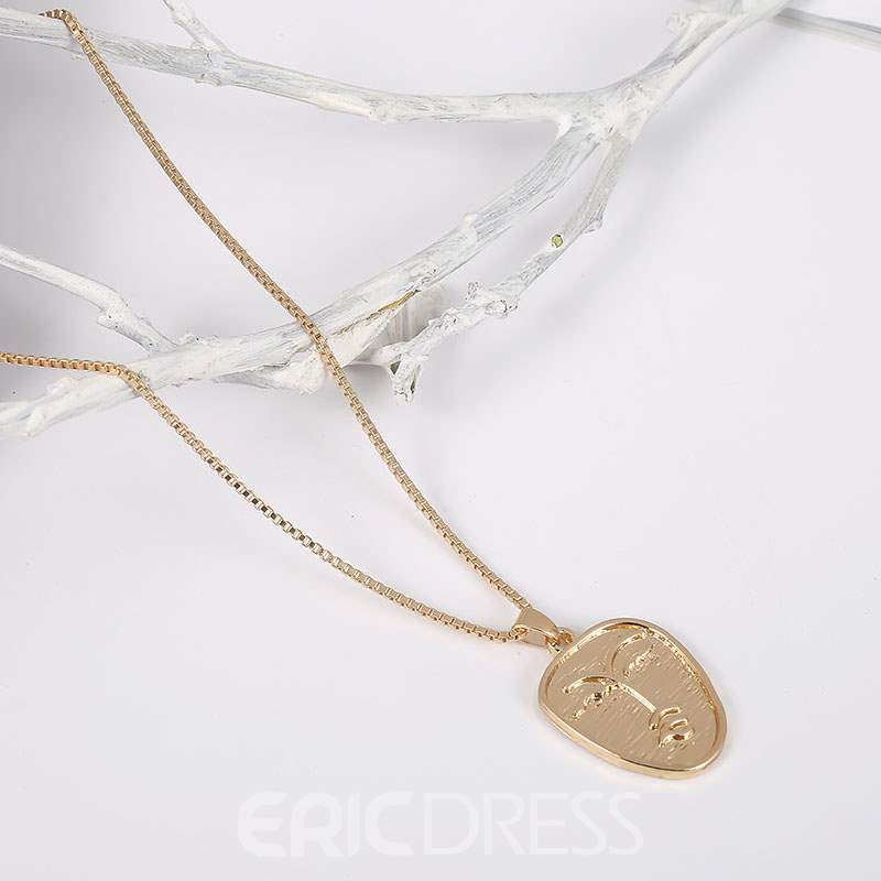 Ericdress Face Figure Necklace For Women