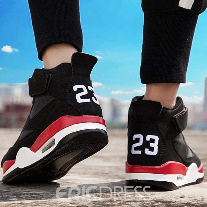 Ericdress PU High-Cut Upper Lace-Up Round Toe Men's Sneakers