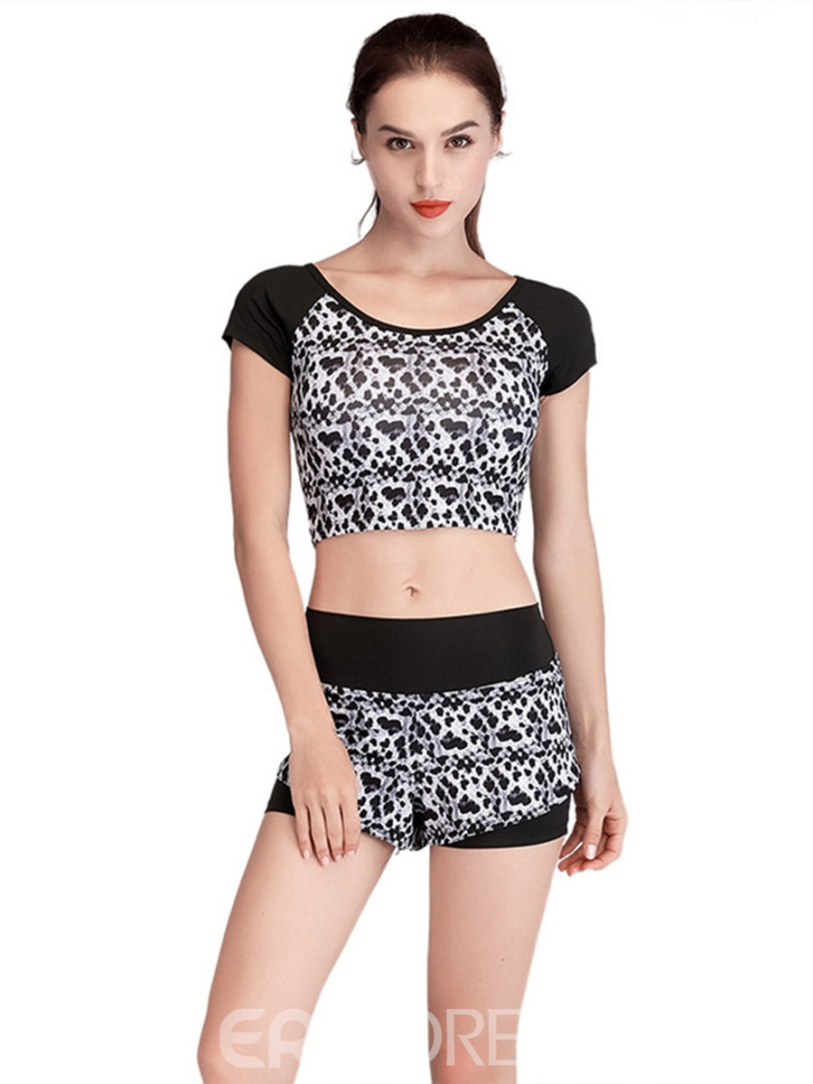 Ericdress Print Anti-Sweat Pullover Short Sleeve Clothing Sets