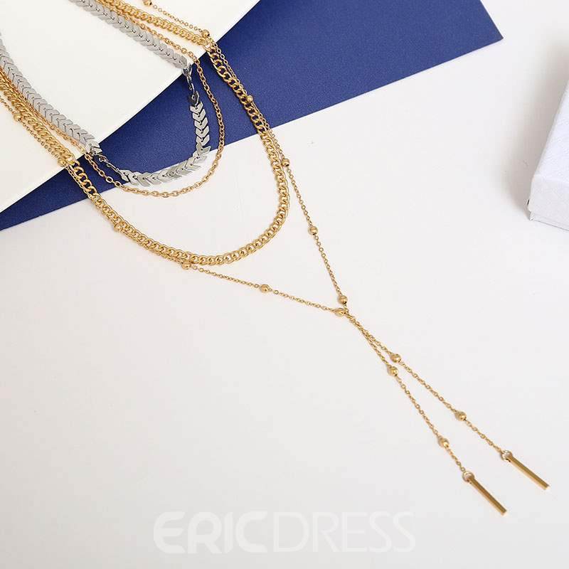 Ericdress Alloy Beads Pendant Necklace