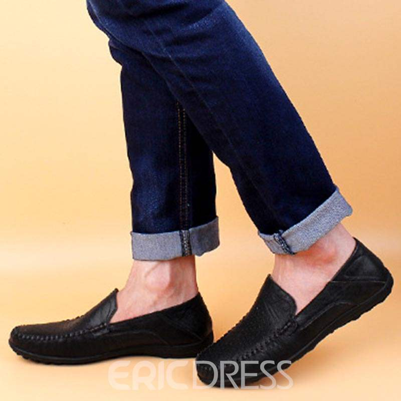 Ericdress Plain Hollow Slip-On Men's Casual Shoes