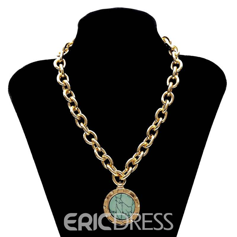 Ericdress Turquoise Pendant Necklace