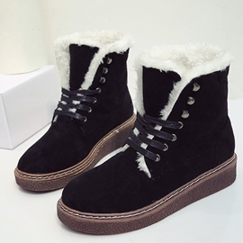 Ericdress Faux Suede Round Toe Women's Snow Boots