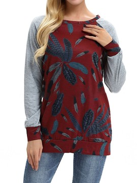 Ericdress Round Neck Long Sleeve Standard Western Fall T-Shirt