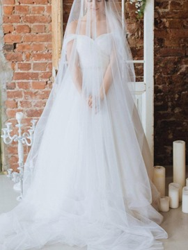 Floor-Length Off-The-Shoulder Cap Sleeves A-Line Beach Wedding Dress