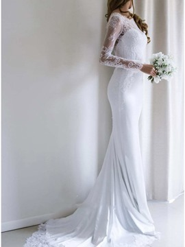 Ericdress Long Sleeves Trumpet/Mermaid Wedding Dress