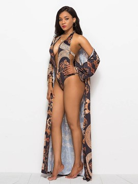 Ericdress Beach Look Two Piece Sexy Floral Swimwear