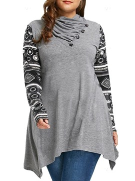 Ericdress Long Sleeve Mid-Length Western Loose T-Shirt