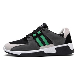 Ericdress PU Color Block Lace-Up Low-Cut Upper Men's Sneakers