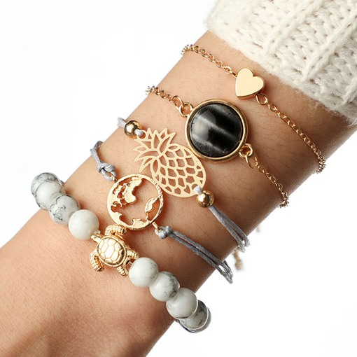Ericdress Pineapple Hollow Out Female Bracelet