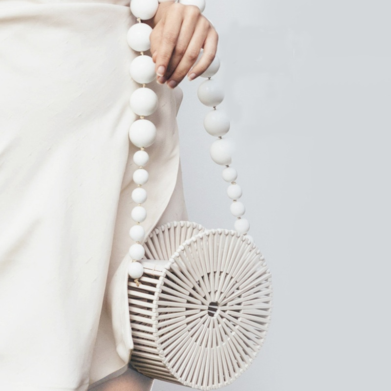Ericdress Knitted Plain Circular Crossbody Bamboo Bags