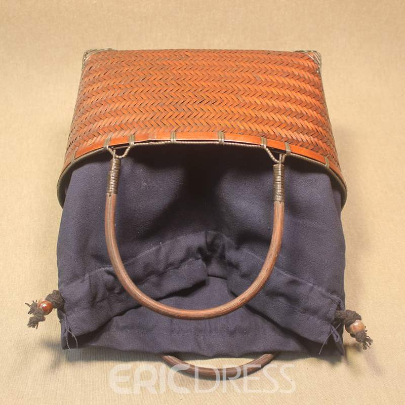 Ericdress Knitted Plain Rectangle Tote Bags