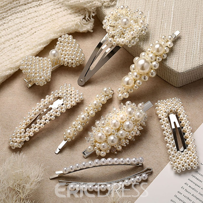Ericdress Barrette Pearl Hair Accessories