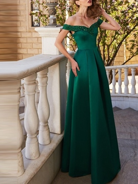 Ericdress Off-The-Shoulder A-Line Sleeveless Evening Dress