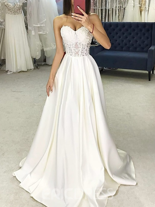 Ericdress Sweetheart A-Line Appliques Country Wedding Dress