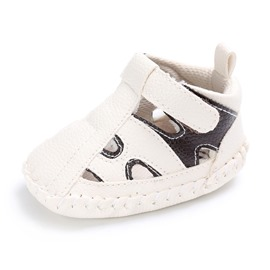 Ericdress PU Hollow Color Block Toddler Shoes