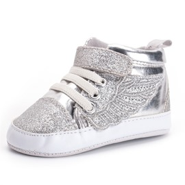 Ericdress Sequin Lace-Up Toddler Shoes