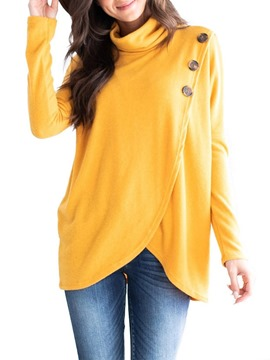 Ericdress Regular Asymmetric Plain Long Sleeve Mid-Length Hoodie