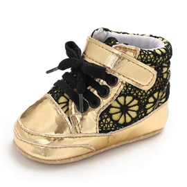 Ericdress Patchwork Lace-Up Toddler Shoes