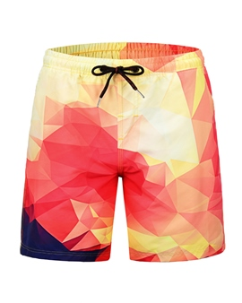 Ericdress Straight 3D Mens Beach Shorts