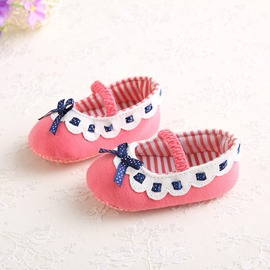 Ericdress Bowknot Color Block Toddler Shoes