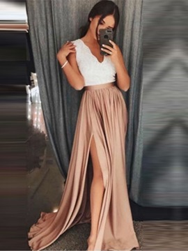 Ericdress Floor-Length Sleeveless V-Neck Pullover Dress