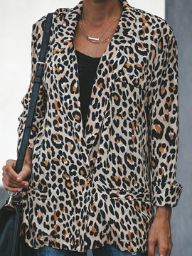 Ericdress Notched Lapel Leopard Nine Points Sleeve Fall Western Blazer