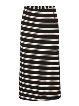 Ericdress Plus Size Bodycon Patchwork Stripe Mid-Calf Skirt