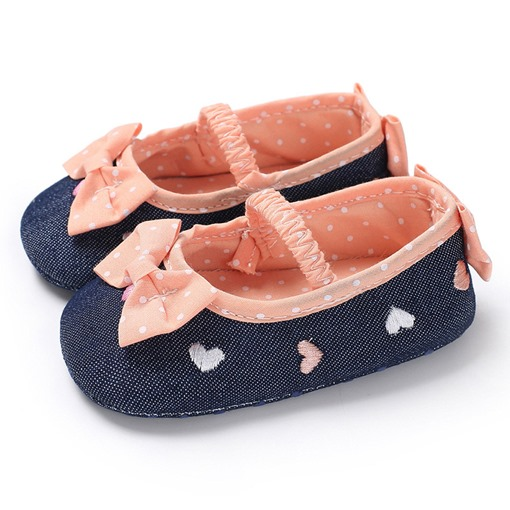 Ericdress Embroidery Polka Dot Toddler Shoes