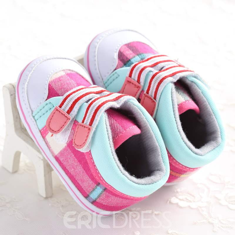 Ericdress Patchwork Plaid Toddler Shoes