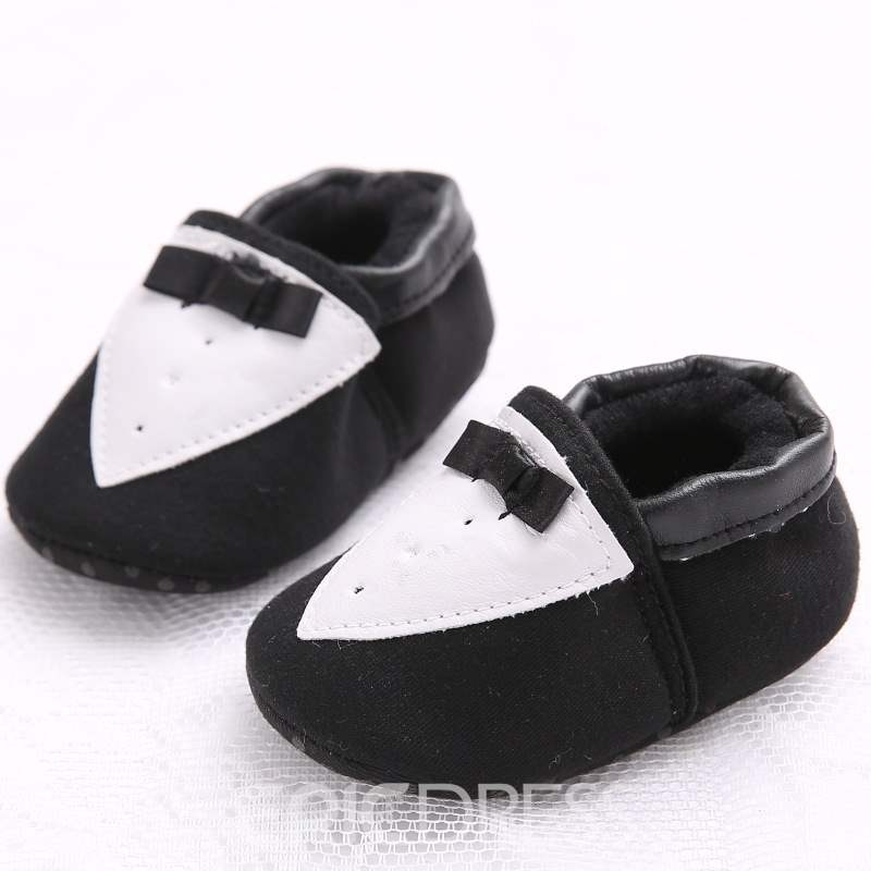 Ericdress Bowknot Color Block Slip-On Toddler Shoes