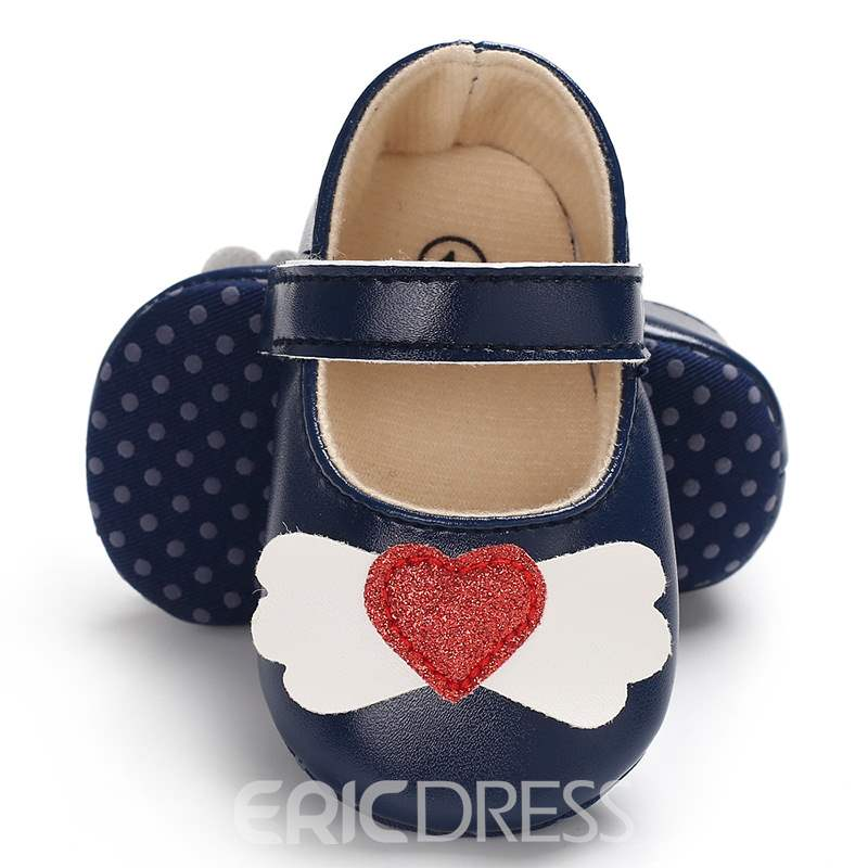 Ericdress PU Heart Shaped Velcro Toddler Shoes
