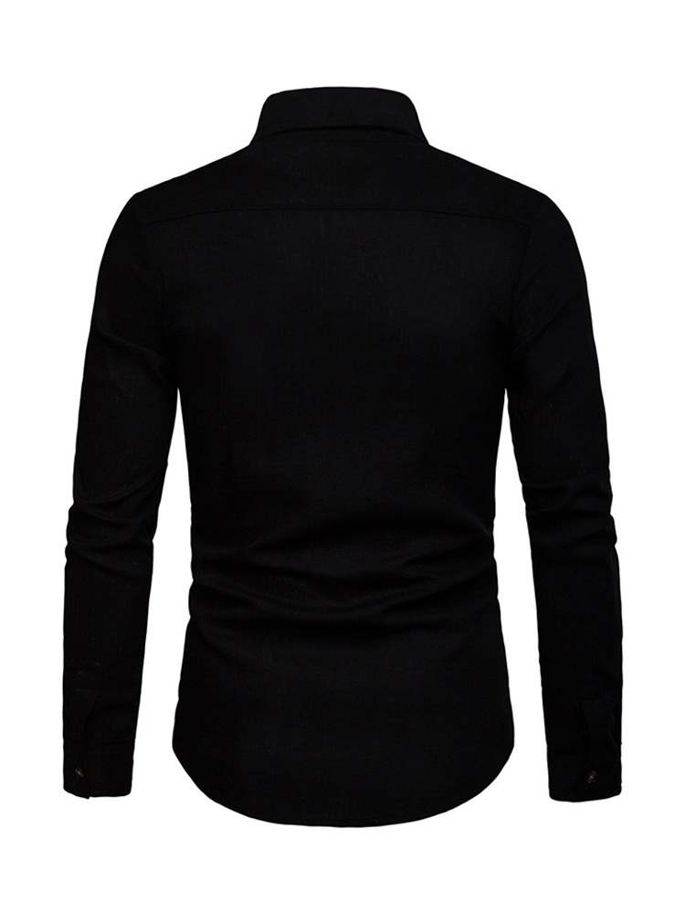 ericdress chemise simple boutonnage revers hommes