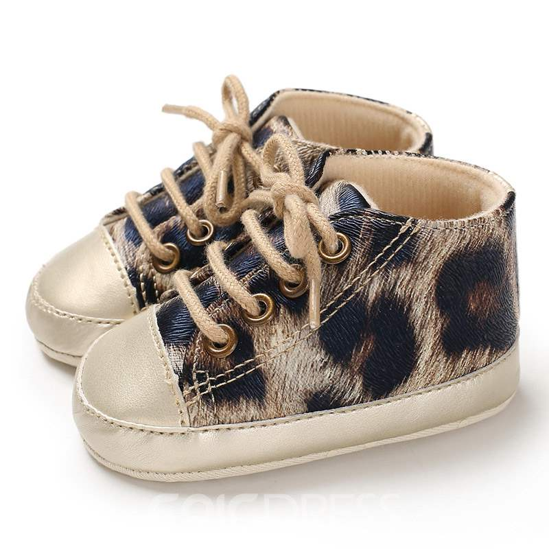 Ericdress Leopard Print Lace-Up Toddler Shoes