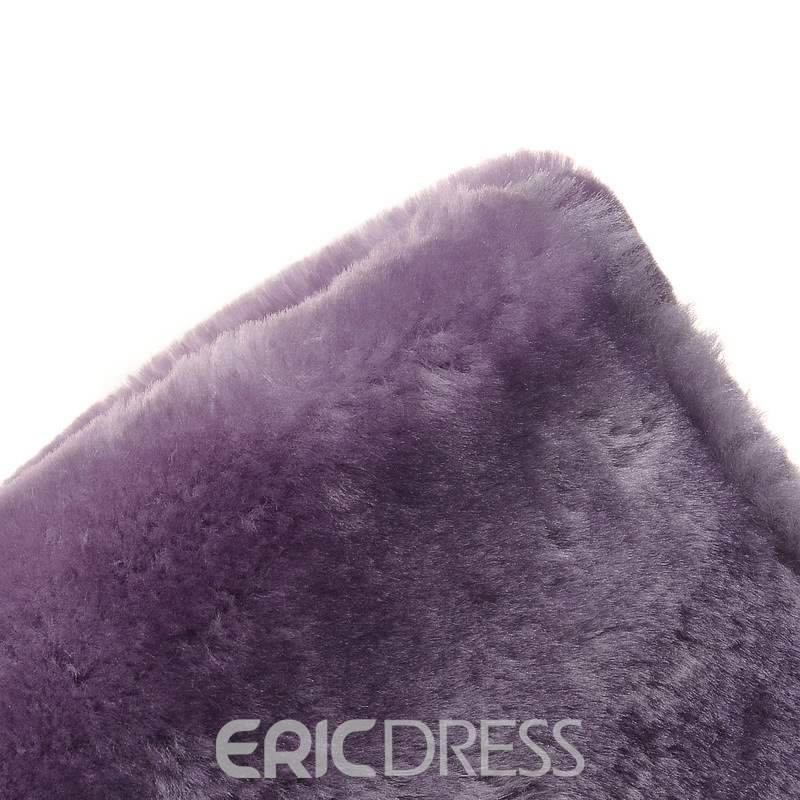 Ericdress Faux Fur Hidden Elevator Heel Slip-On Women's Snow Boots