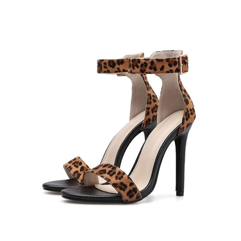 Ericdress Leopard Print Buckle Stiletto Heel Women's Sexy Sandals