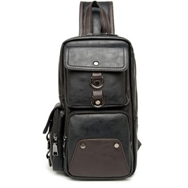 Ericdress Belt-Decorated PU Plain Backpacks