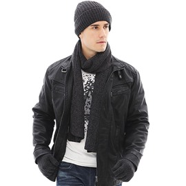 Ericdress Men Knitted Winter Hat&Scarf&Glove