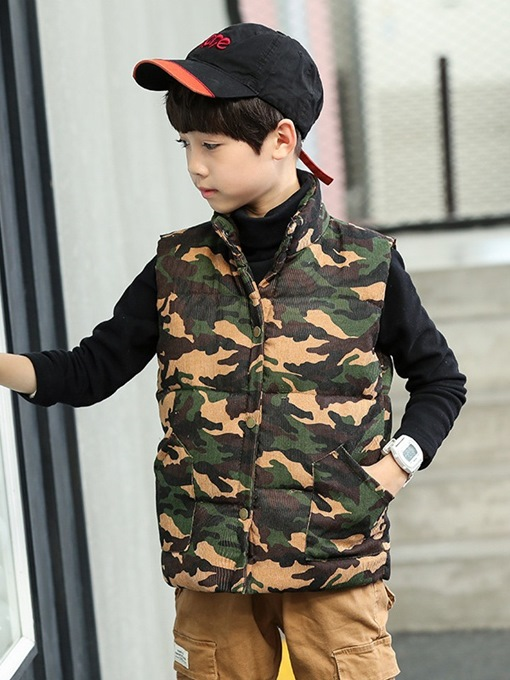 Ericdress Camouflage Single-Breasted Boy's Vest
