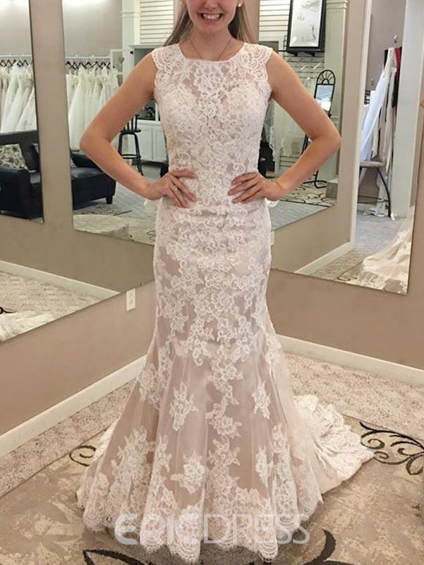Ericdress Mermaid Appliques Church Wedding Dress