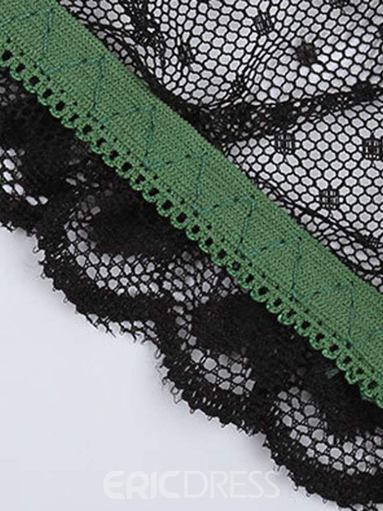 Ericdress See-Through Patchwork Floral Lace Briefs Panties