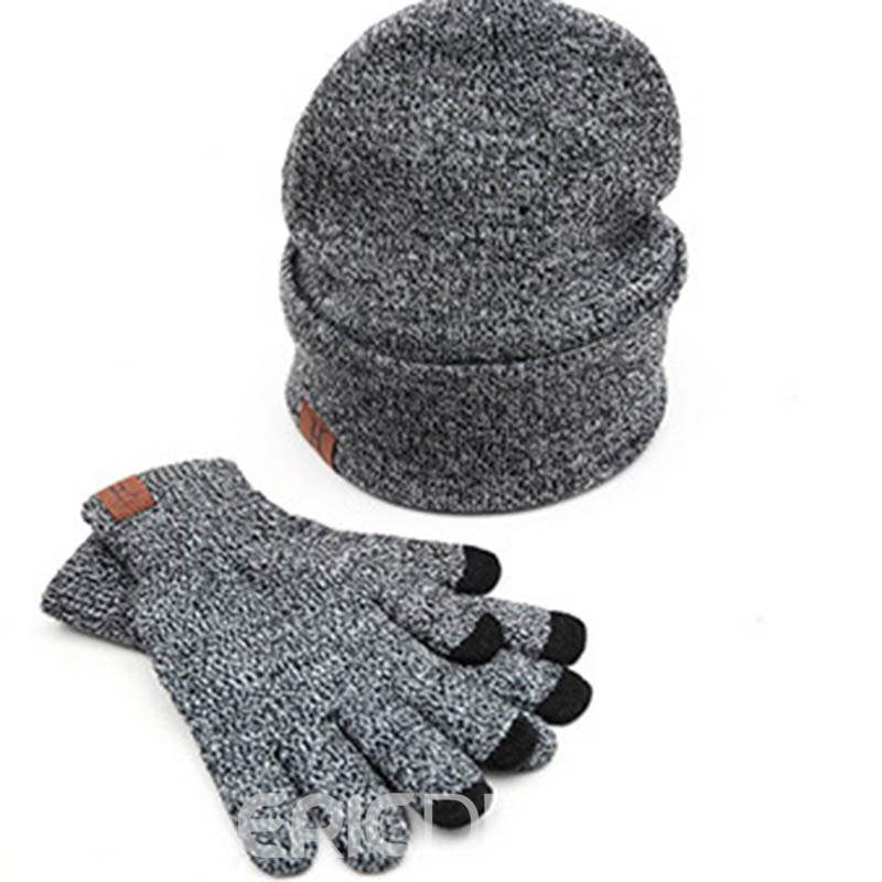 Ericdress Knitted Winter Hat&Scarf&Glove
