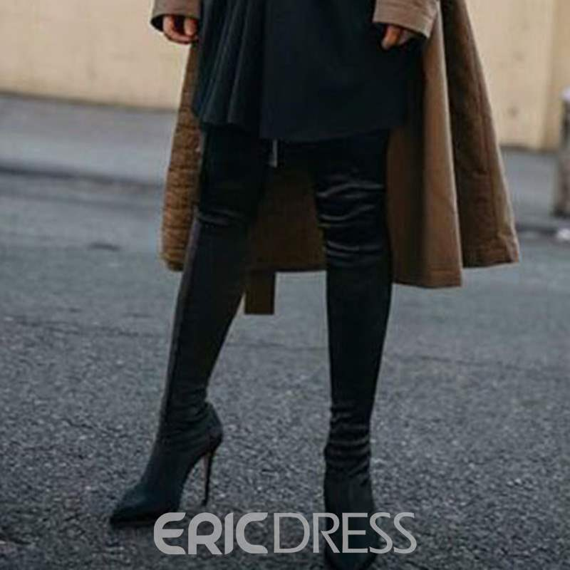 Ericdress Spandex Stiletto Heel Pointed Toe Women's Thigh High Boots