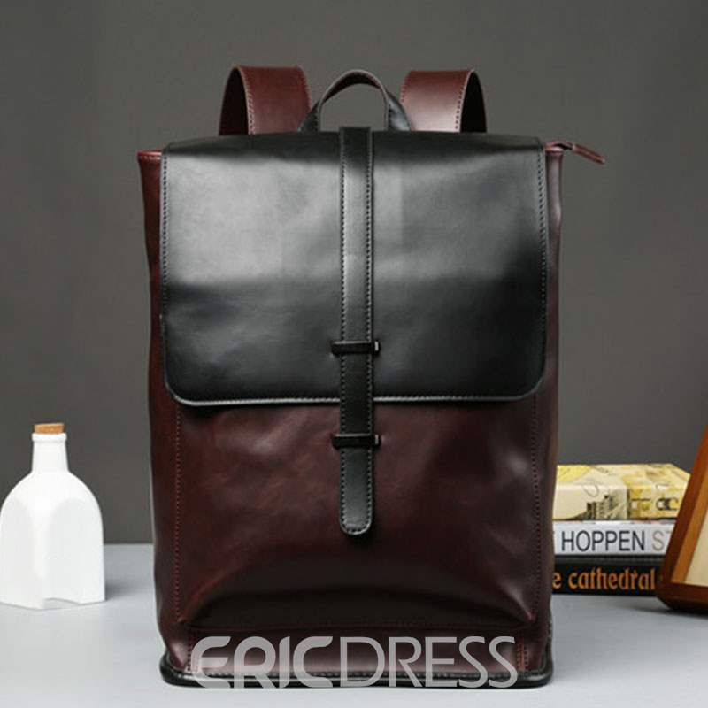 Ericdress Modern Style Color Block PU Backpacks