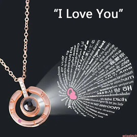 Ericdress Saying I love You Necklace