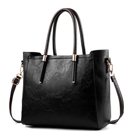 Ericdress Casual Thread Plain PU Square Tote Bags