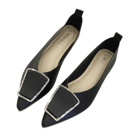 Ericdress Block Heel Pointed Toe Slip-On Women's Flats