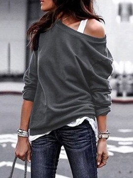 Ericdress Plain Long Sleeve Standard Fall Fashion T-Shirt